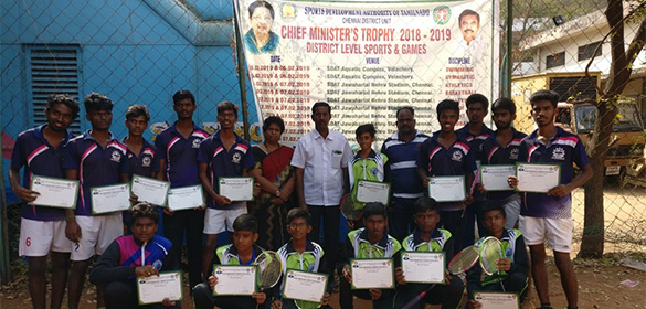 The CM Trophy for Chennai District has been held at Nehru stadium today