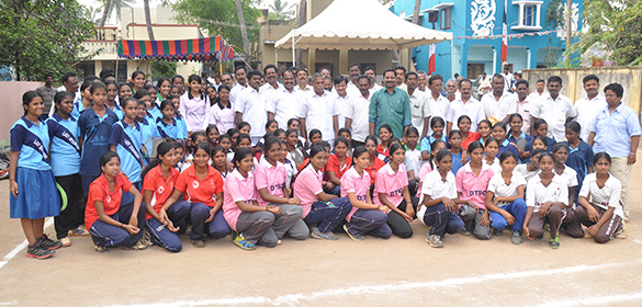 KGRC conducts a Ball Badminton Invitation Trophy celebrating our Chief Minister J. Jayalalitha's 68th Birth day