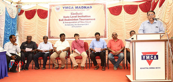 A New Ball Badminton court has been inaugurated at YMCA, Chennai.