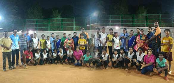 Mrs. Kavya Manoj, the 8 times star of India awardee visited ICF Colony Ball Badminton Club
