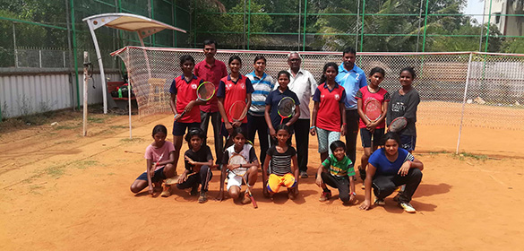 Mr. Ekambaram the legend of Ball Badminton game has visited ICF Colony Ball Badminton Club today