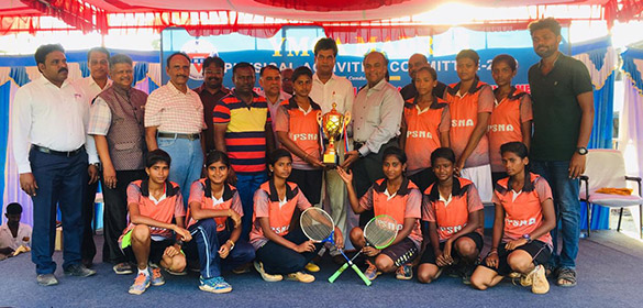 YMCA invitation trophy for State Level Senior Men and Women Ball Badminton Tournament has been completed successfully.